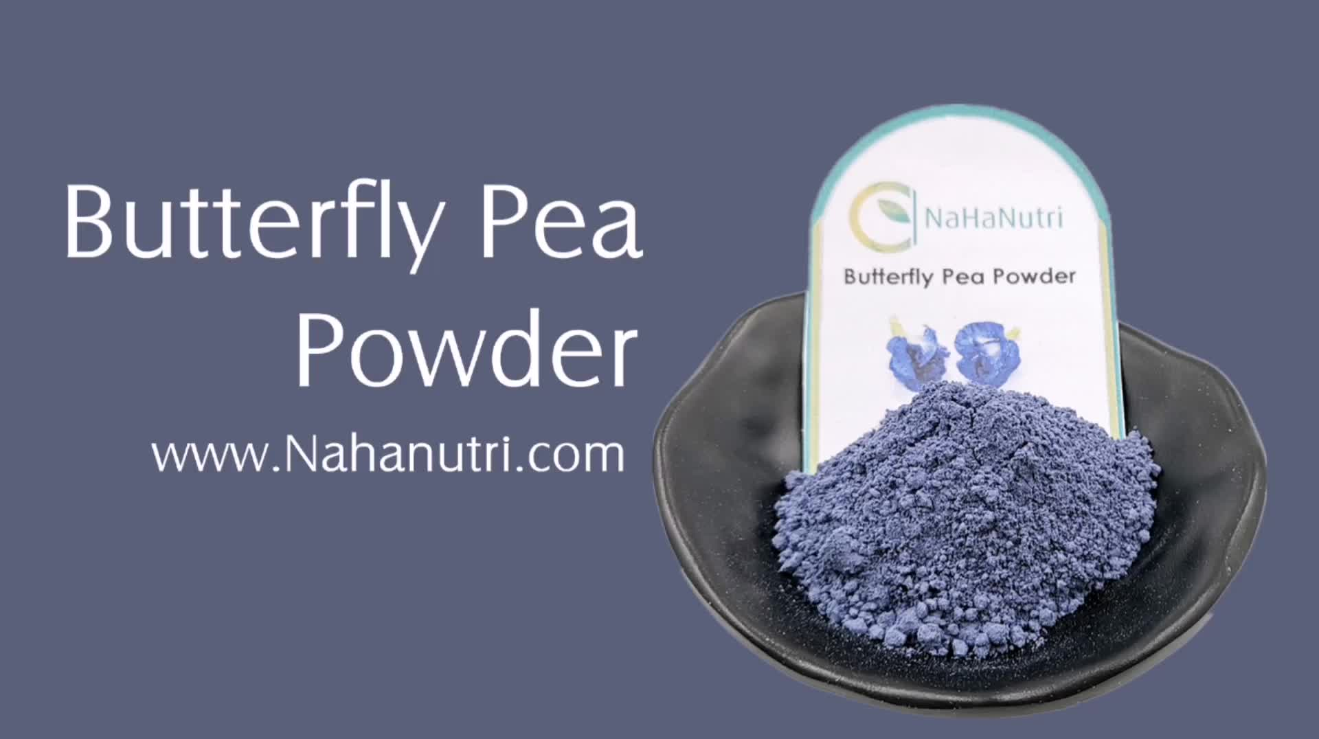 Supply Natural Plant Organic Butterfly Pea Flower Extract Powder
