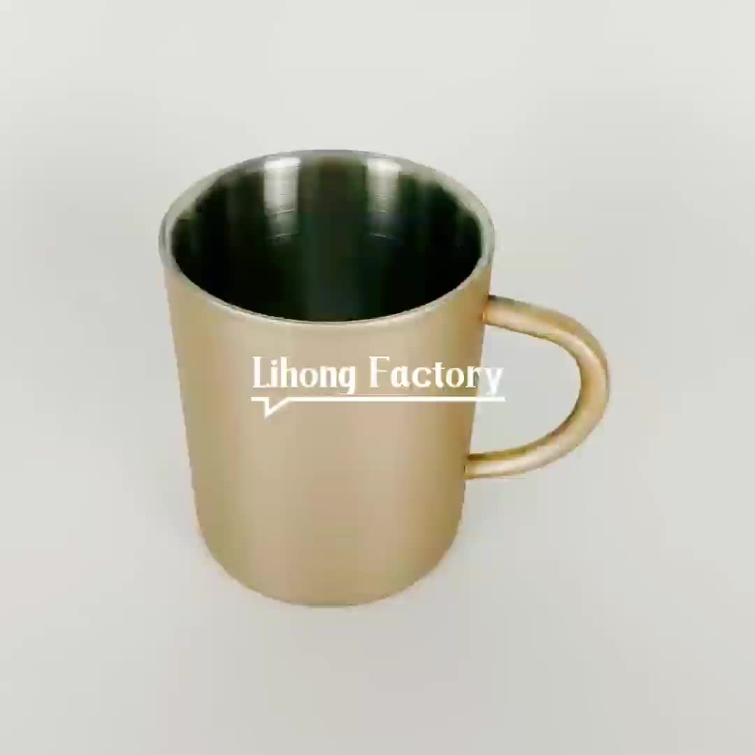 Wholesale Stainless Steel 14oz Double Walled Coffee Beer Tea Pretty Mugs stainless steel Water Cup