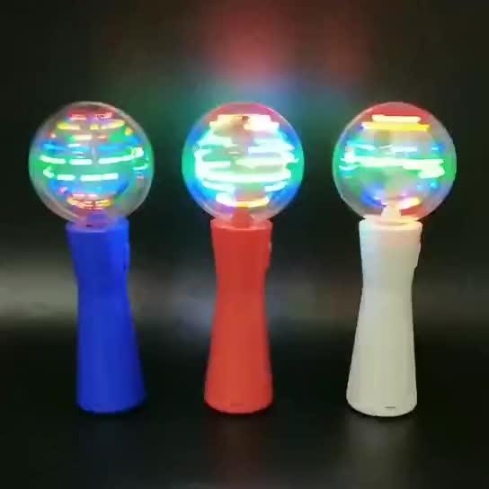 LED luz de giro varita música luz girando varita juguetes de los niños