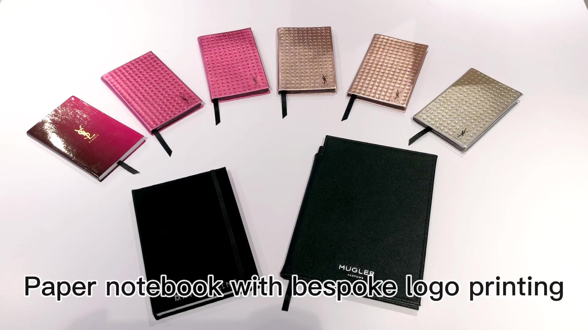 Promotional gift single lined academic journal diary notebook pocket notepad with drawer box
