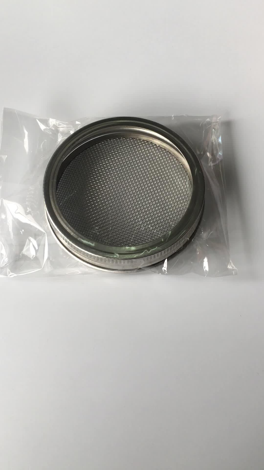 Aço inoxidável Jar Brotando Tampa Kit Para Frascos de Pedreiro