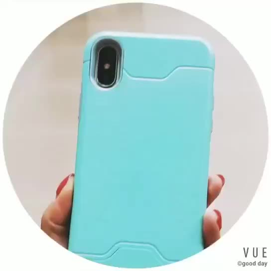 2019 Popular Design Wholesale Low Price PC+TPU Anti-dirt Plug-in Card Cell Phone Case For Iphone 7/ 7 Plus