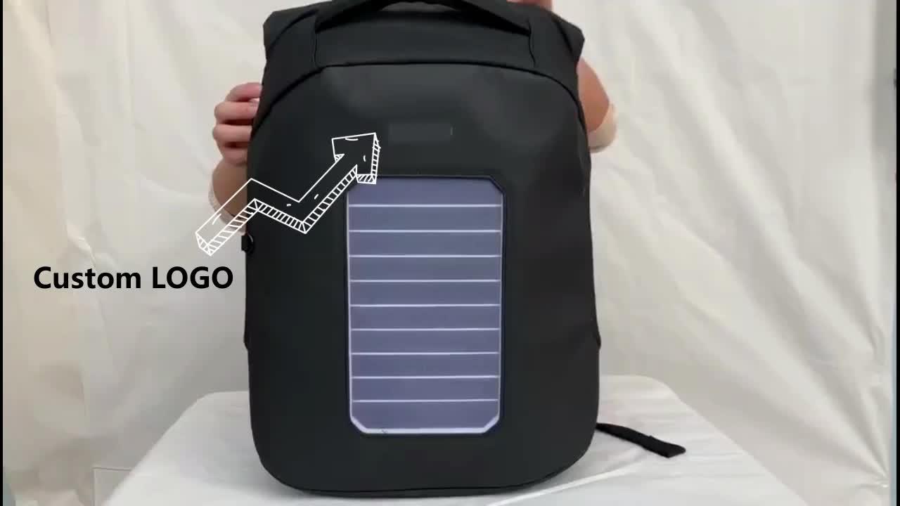 Surya Ransel Ringan Top Power Ransel USB Solar Energi Tas Back Pack