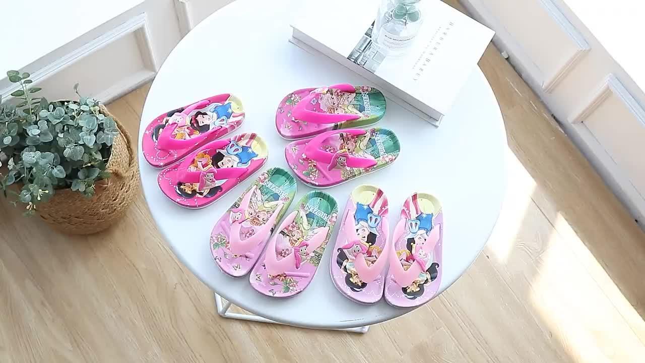 New kids shoes Children Flip-Flops Cartoon designer style Beach slippers Non-slip soft bottom