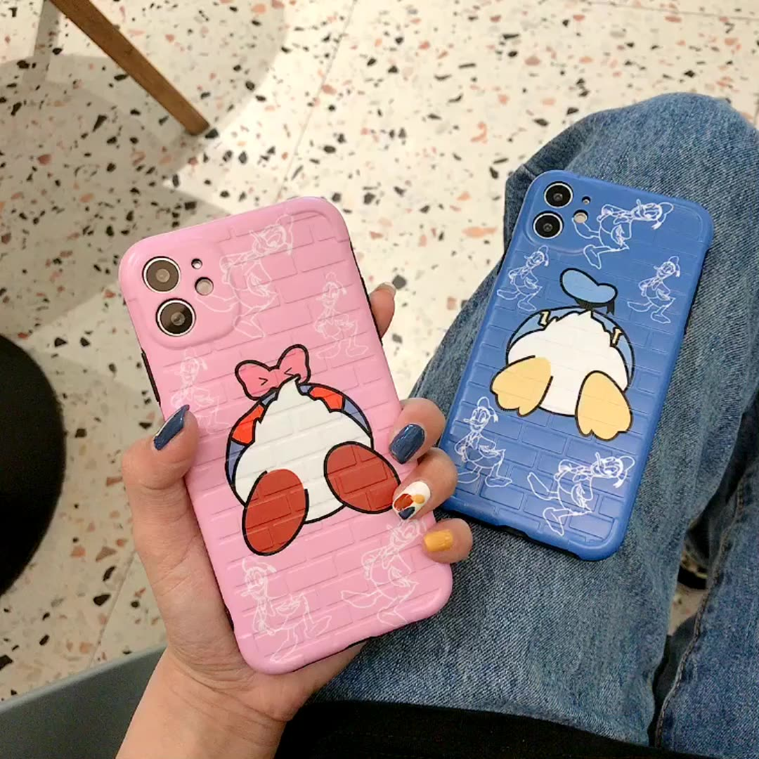 Cute Cartoon Buttocks Donald Duck Shockproof Silicone Case For iPhone 11 Pro X XR XS Max 8 7 6 6S Plus SE Soft TPU Back Cover