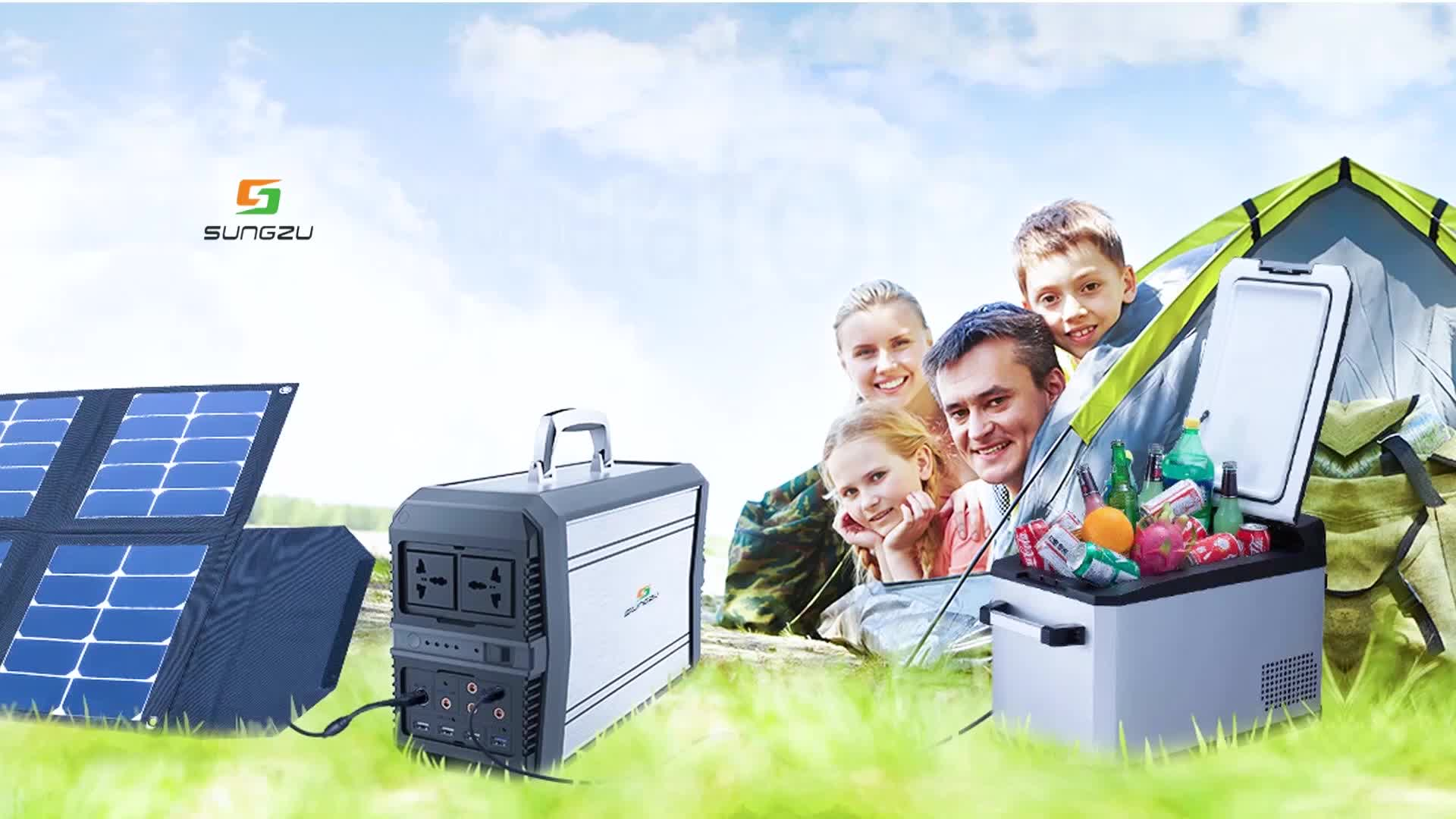 2018 vendita calda 300 w 500 w 1000 w generatore portatile di energia solare per uso domestico