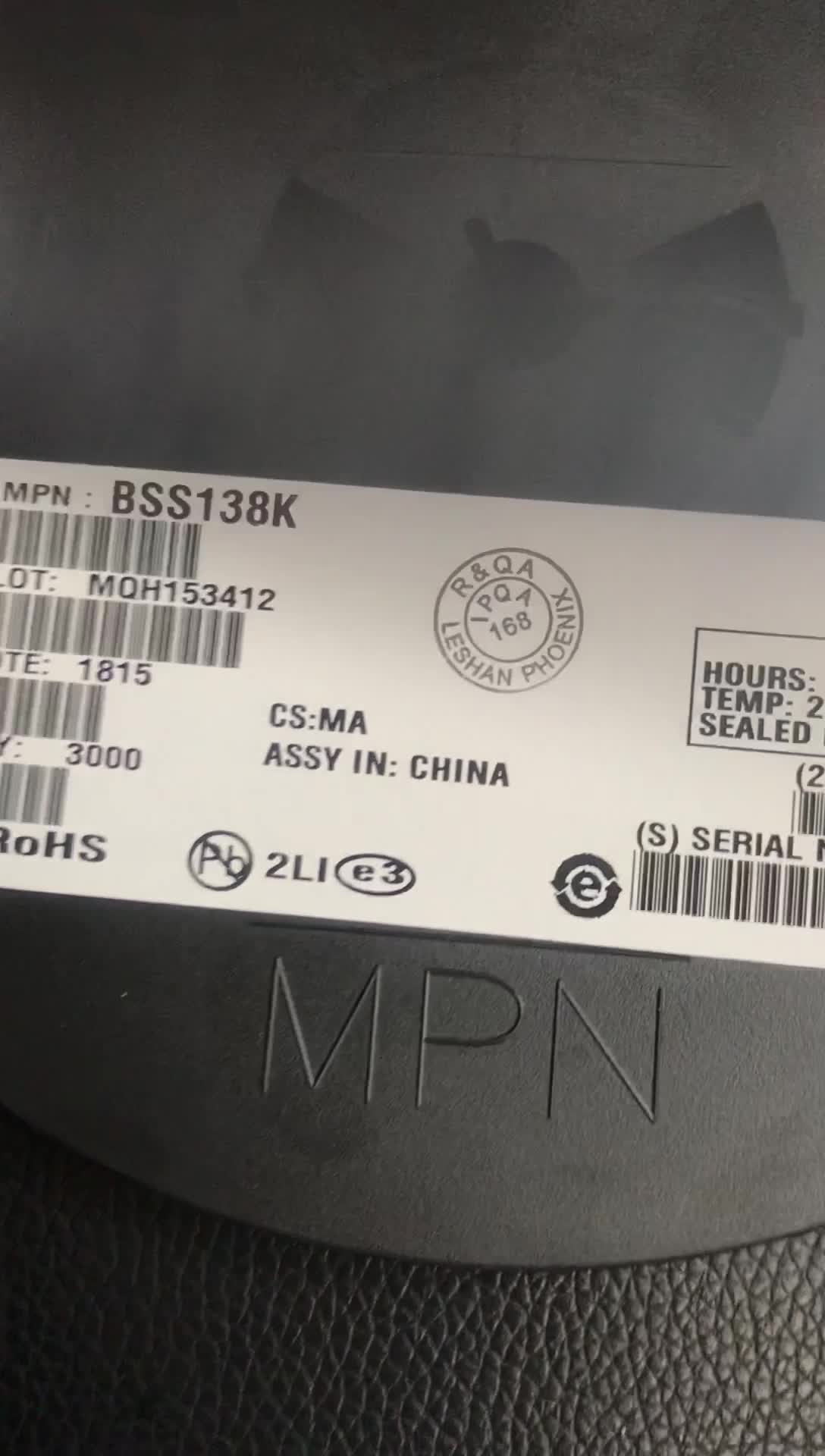 बीओएम सूची बोली एन-चैनल 50 v 220mA 350 mw एसएलके पियक्कड़-23-3 पर BSS138 BSS138k एसएमडी ट्रांजिस्टर