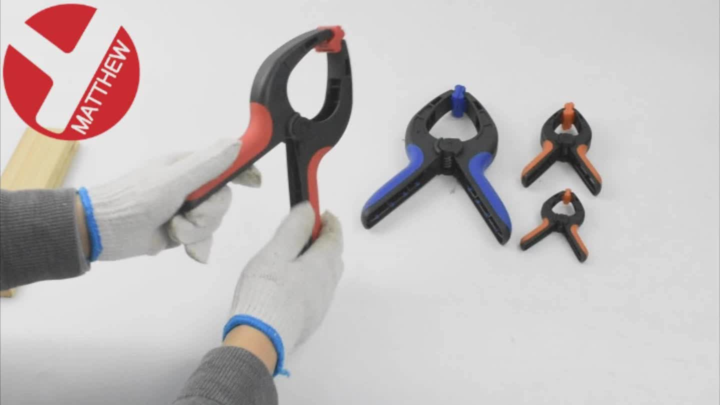 Strong Woodworking Nylon Plastic Spring Clamps with Anti-Skid Grip