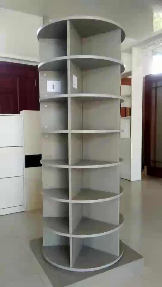 customized particle board round rotating shoe rack tower shoe cabinet tower shoe closet