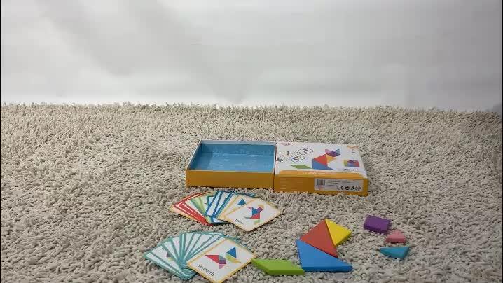 2019 New Design Wooden Tangram Play Toys for 3 years children