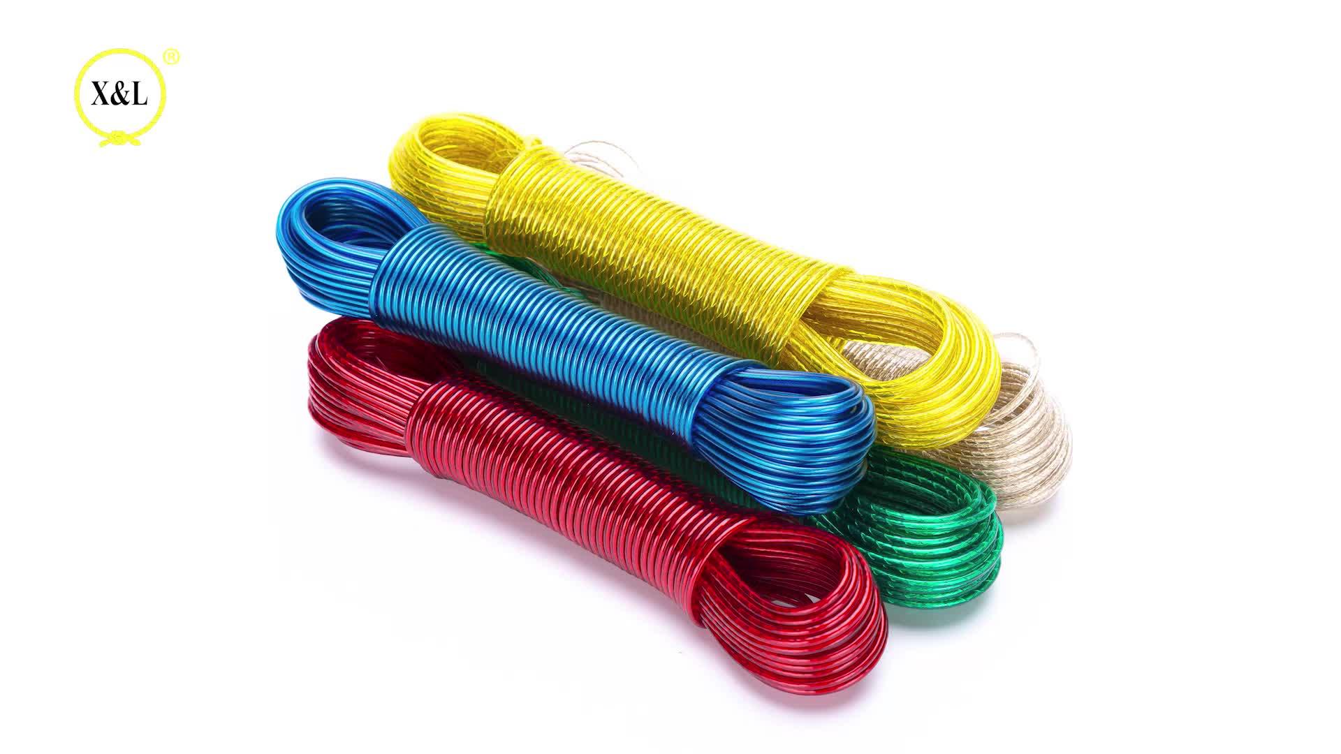 Hochfesten Polyester Garne Outdoor Bunte PVC Waschen Linie Für Kleidung Hängen