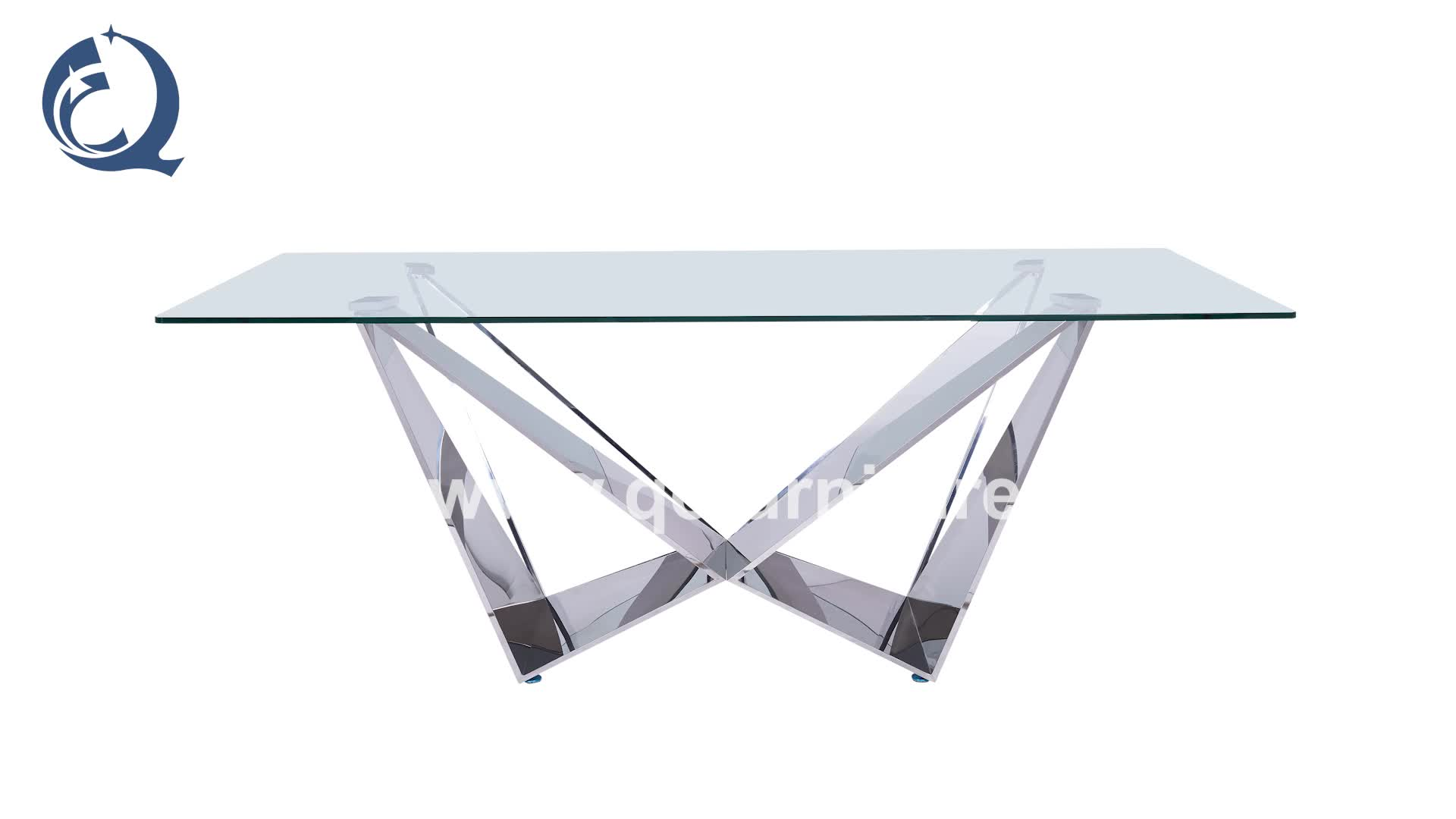 modern design stainless steel dining table and chair