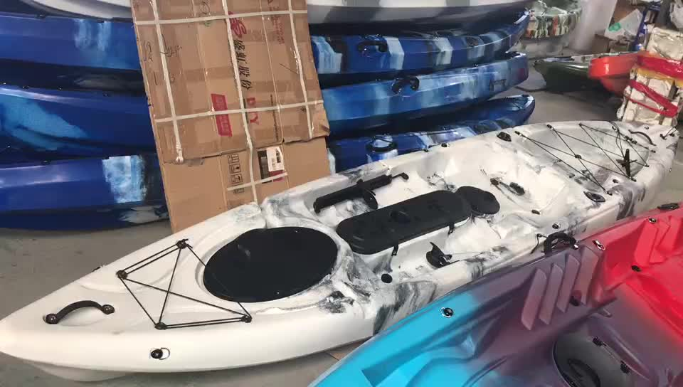 Made In China Cheap One Person Sit On Top Ocean Plastic Canoe Professional Fishing Kayak