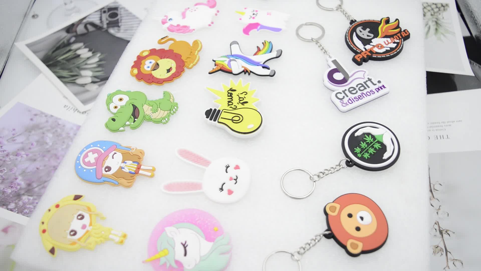 Beautiful 2d custom shaped soft pvc keychain+soft pvc rubber keychain