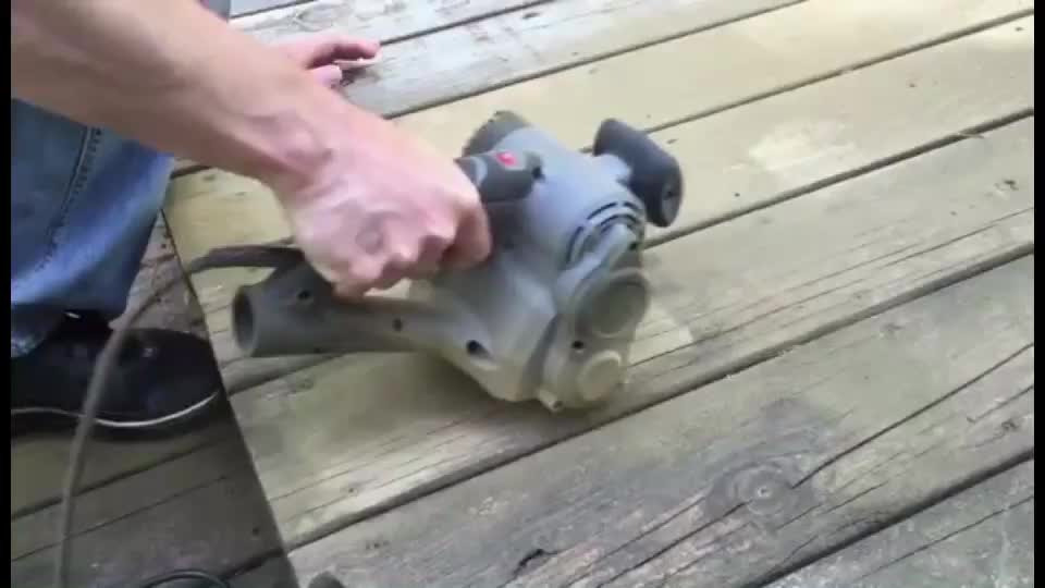 Restorer Belt Floor Sander Is The Best Paint Remover And Stripper For Wood And For Metal