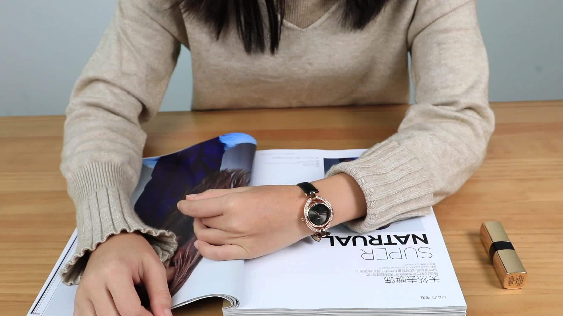 Engraved bracelets wholesale ladies wrist watch match rose gold bangles cat Bracelet For lady Watch