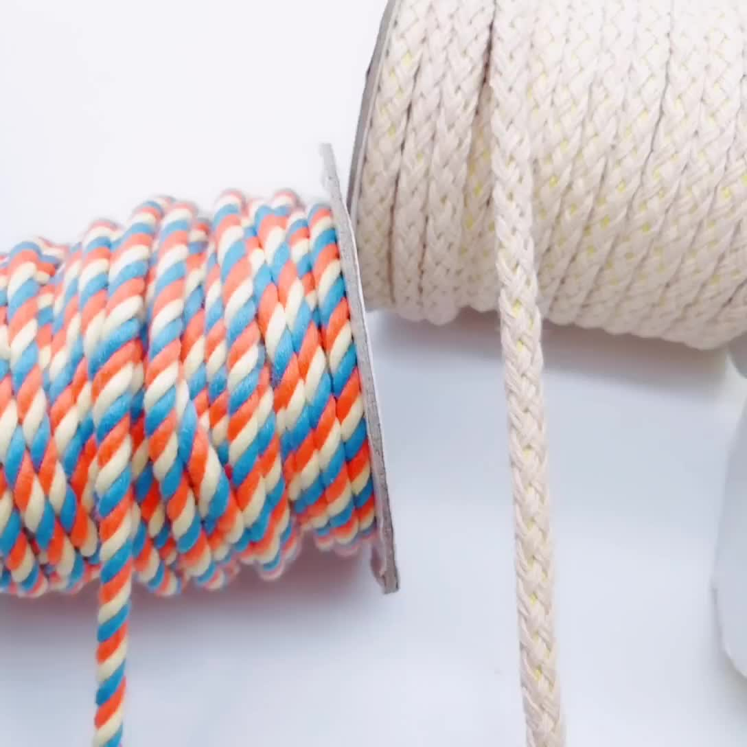 Durable Soft Braided 5MM Cotton Cord/Rope For Macrame Crafts