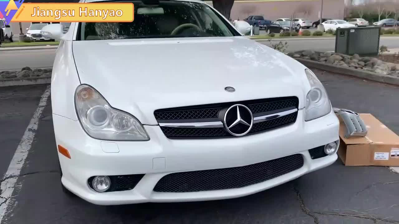 2014-2018 High quality and hot selling Plastic ABS Hood Matte Black  Grille For cls