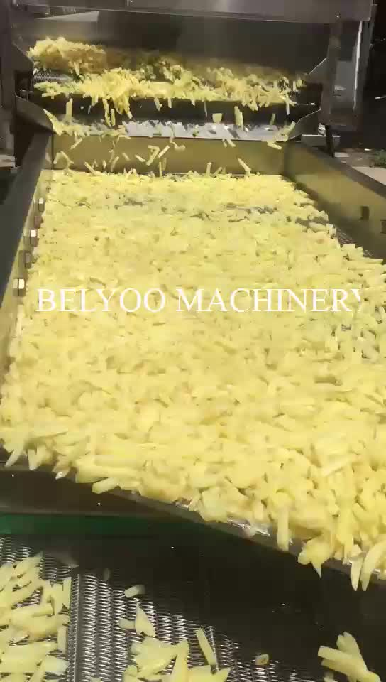 200-3000kg/h kfc snack potato french fries making machine frozen finger potato chips product line to buy good invest project