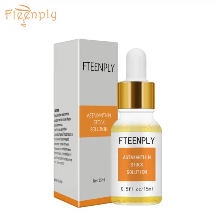 FTEENPLY Astaxanthin Serum Facial Whitening Moisturizing Hyaluronic Acid Essence Deep Repair Sunscreen Face Nourishing Skin Care