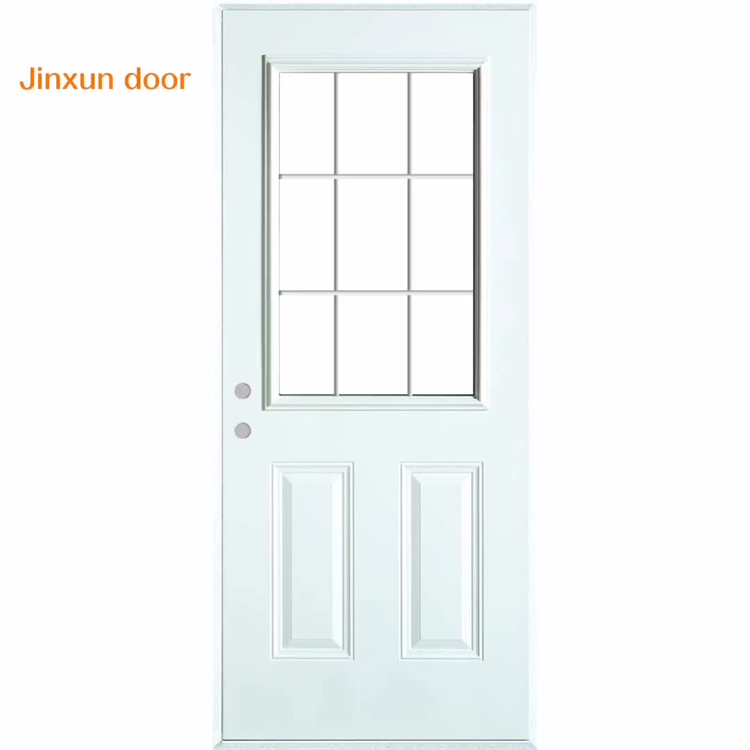 Plastic Glass and glass Frame, half moon glass for door