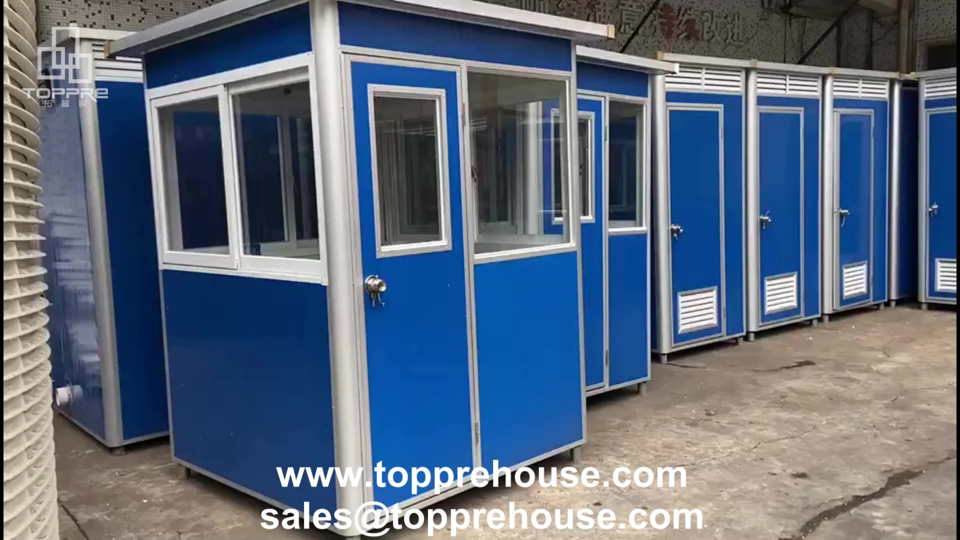 Color steel sentry box guard house sanitary cabin rooms security guards designs for prefab outdoor restroom portable kiosk