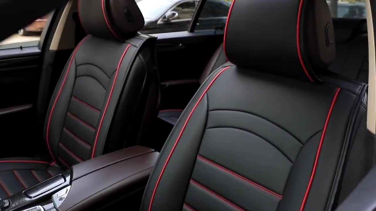 Universal PU leather 5d car seat cover