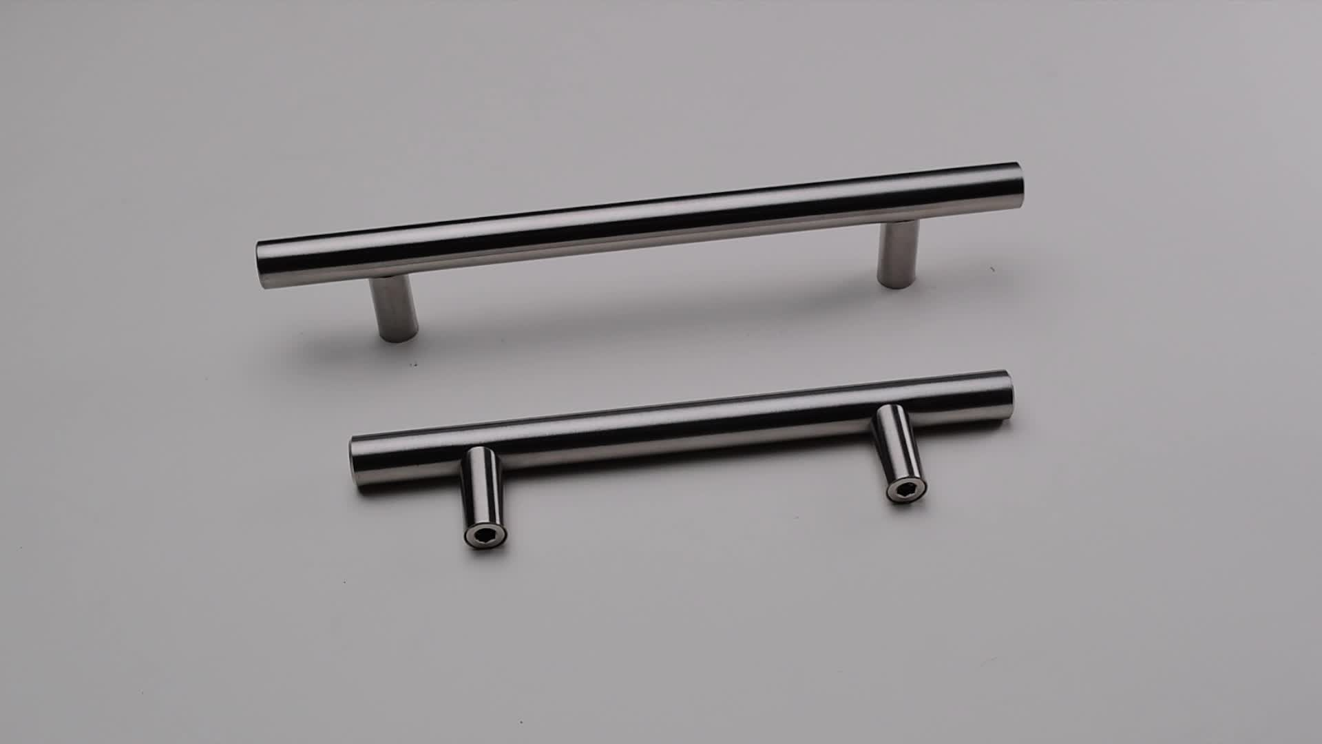 New Selling Furniture Hardware Bedroom Stainless Steel Drawer Accessory Pull Cabinet Handles T bar furniture handle