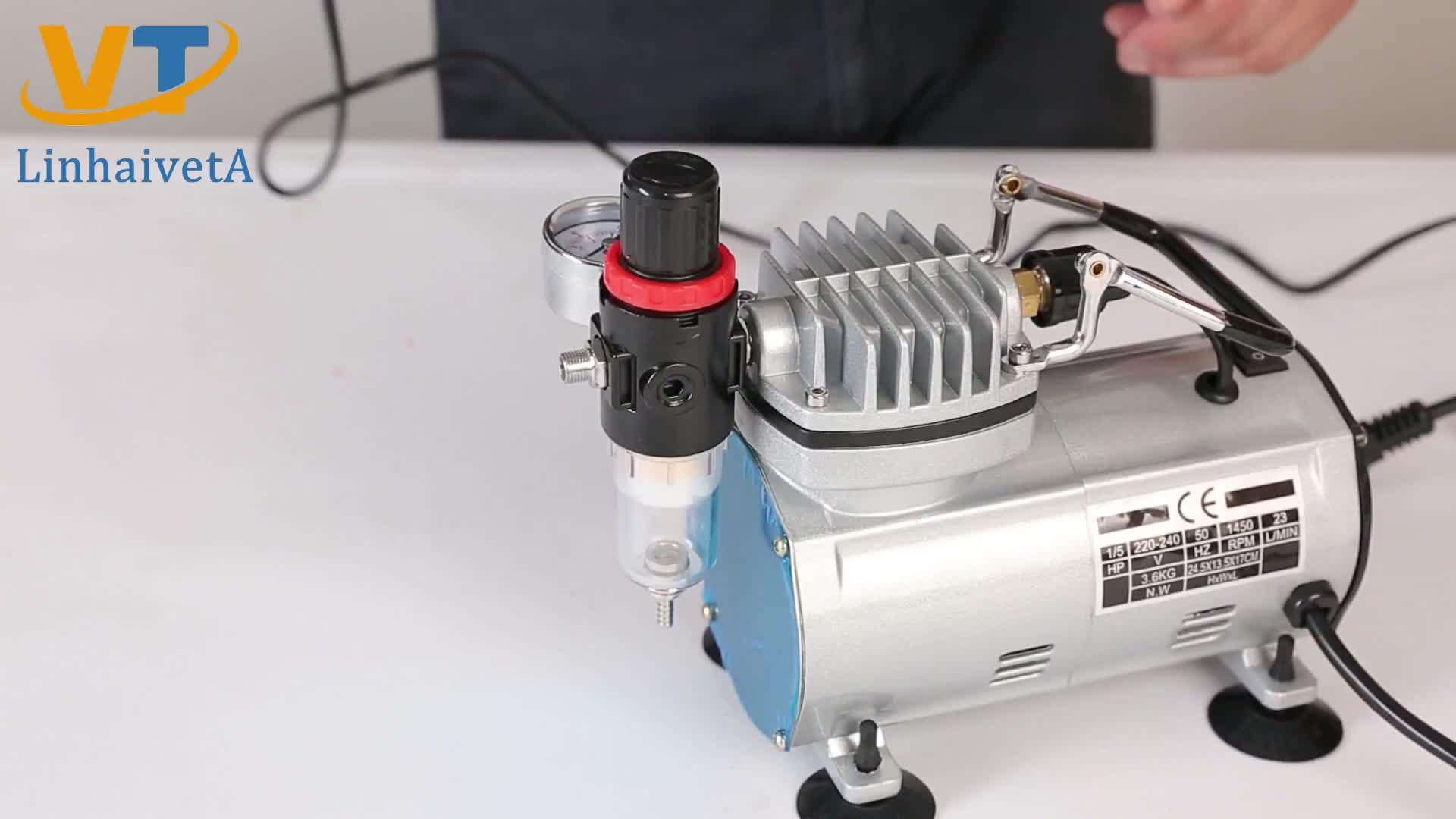 AC-18B 휴대용 미니 에어 브러쉬 스프레이 총 기계 키트 에어 브러시 압축기