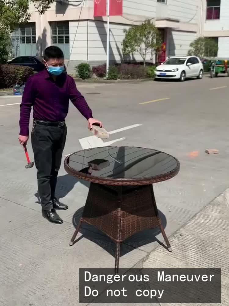 Уличная садовая мебель Наборы ротанга обеденный стул стол 4 местный Плетеный патио уличная мебель 5 шт садовый набор