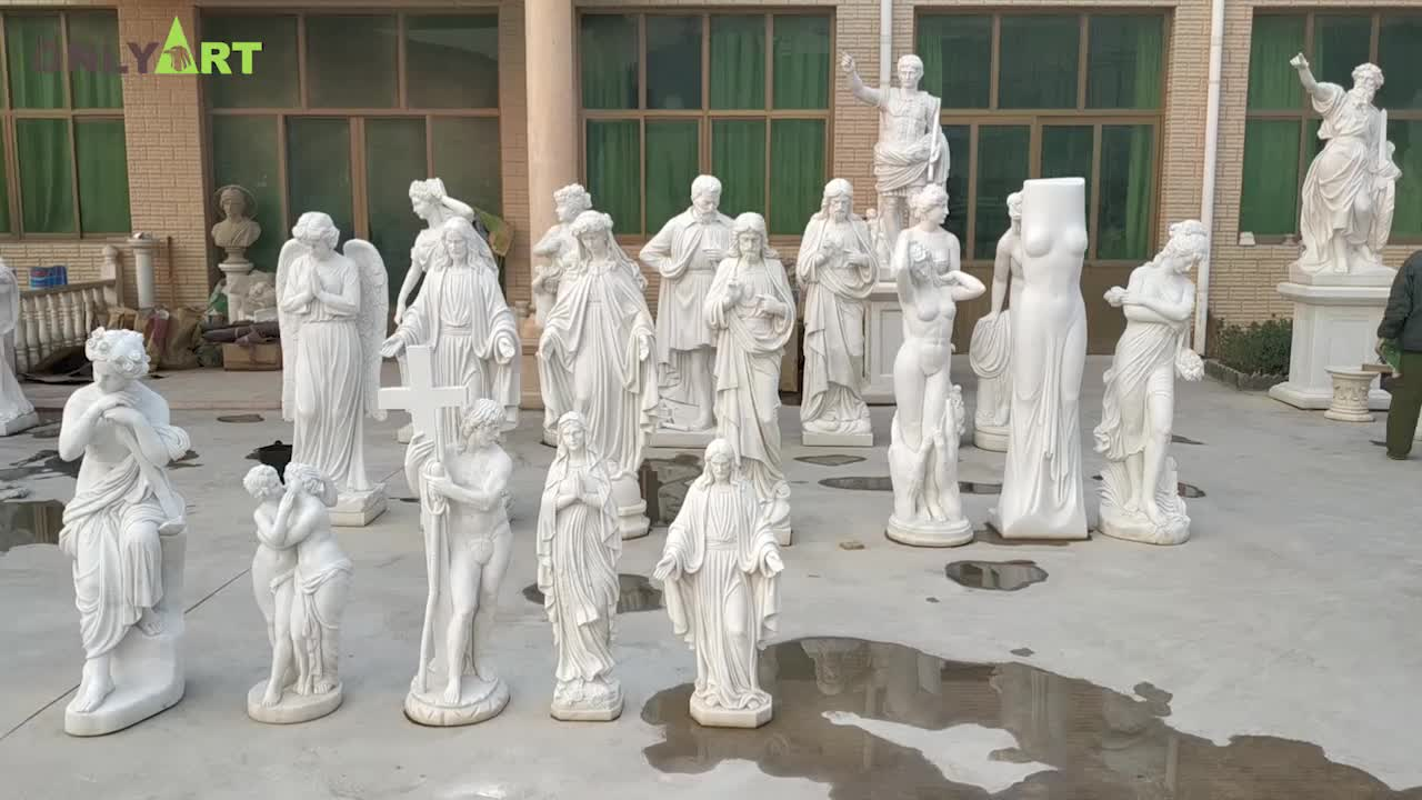 Outdoor Decoration High Quality Green Marble Garden Four Seasons God Sculpture