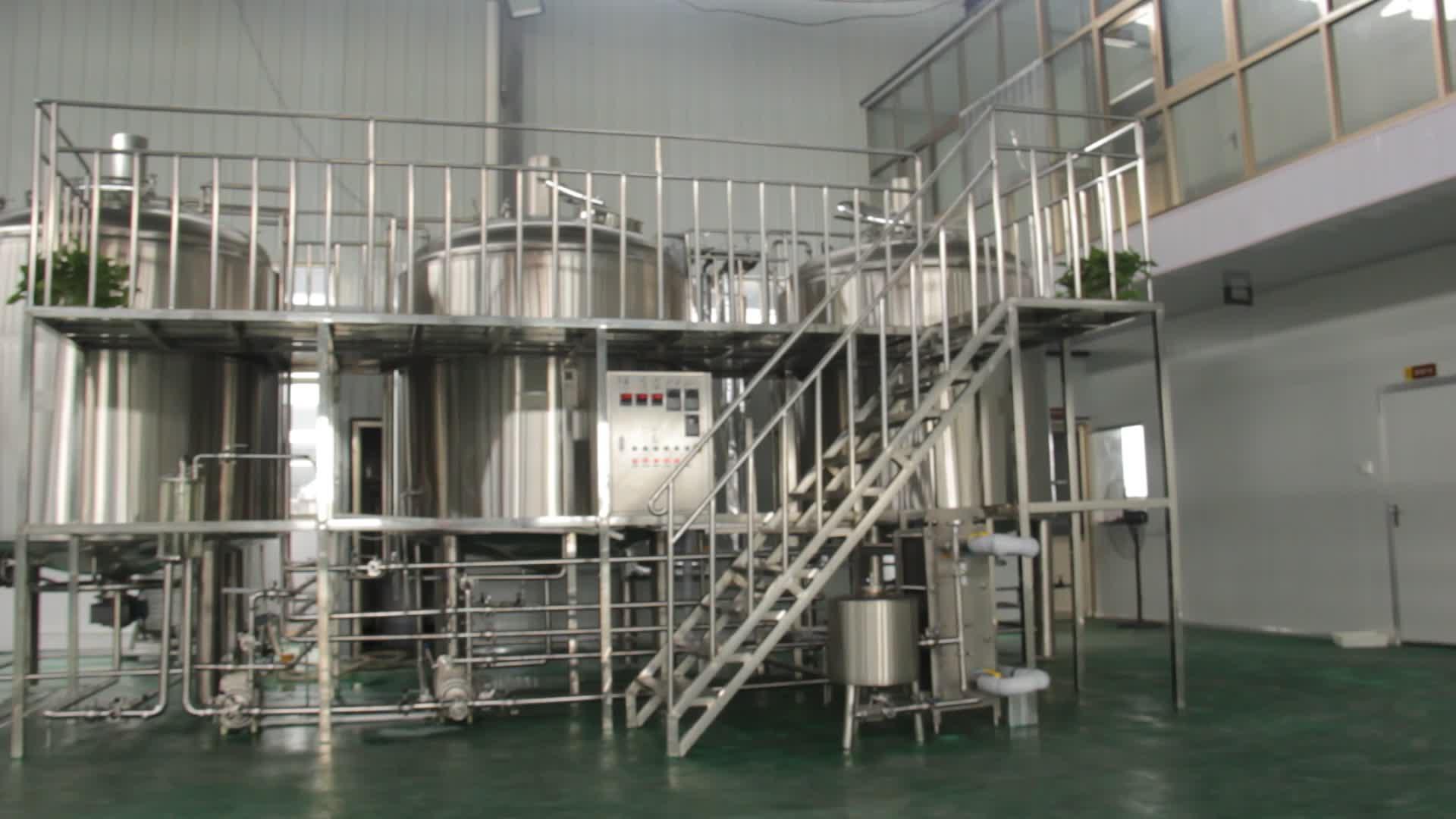 से बड़ा 1000 एल औद्योगिक शिल्प बियर पक उपकरण
