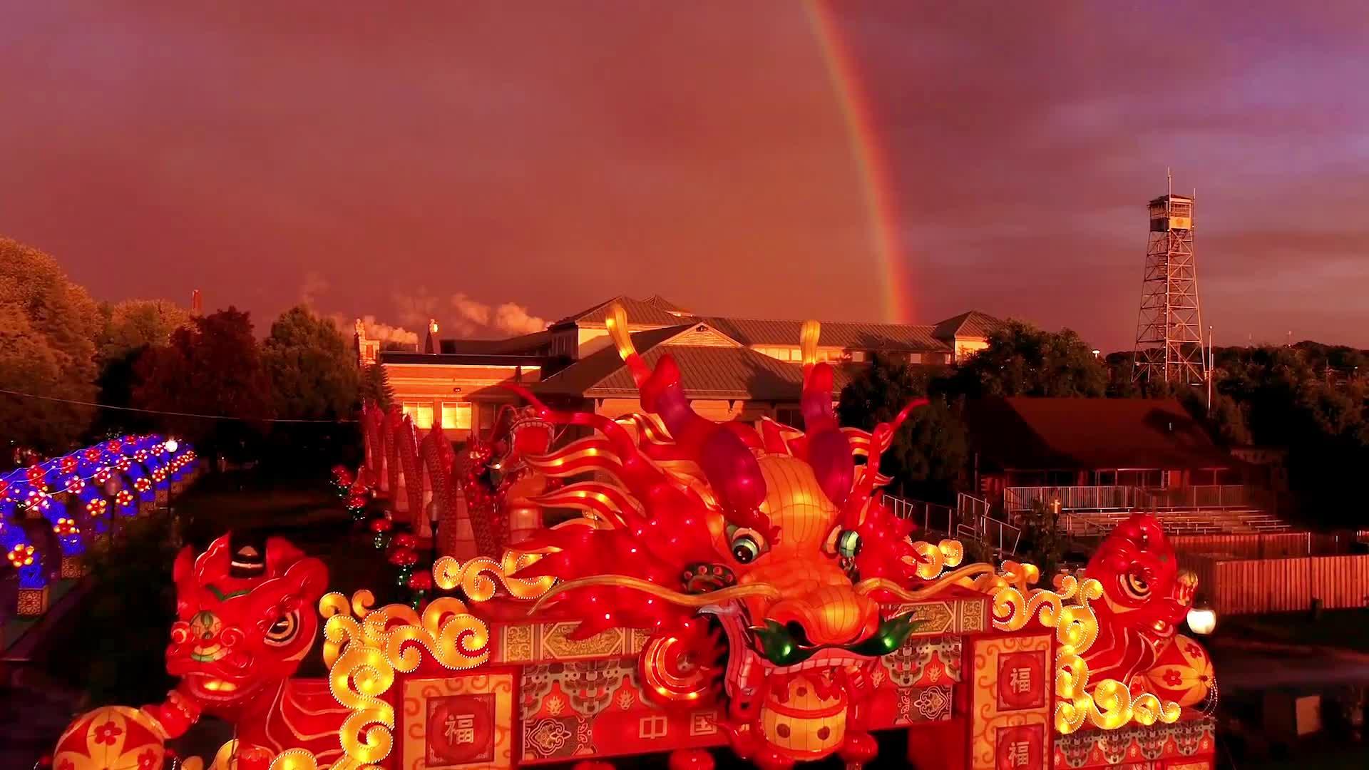 פסטיבל קישוט בד מסורתי הסיני הדרקון פנס