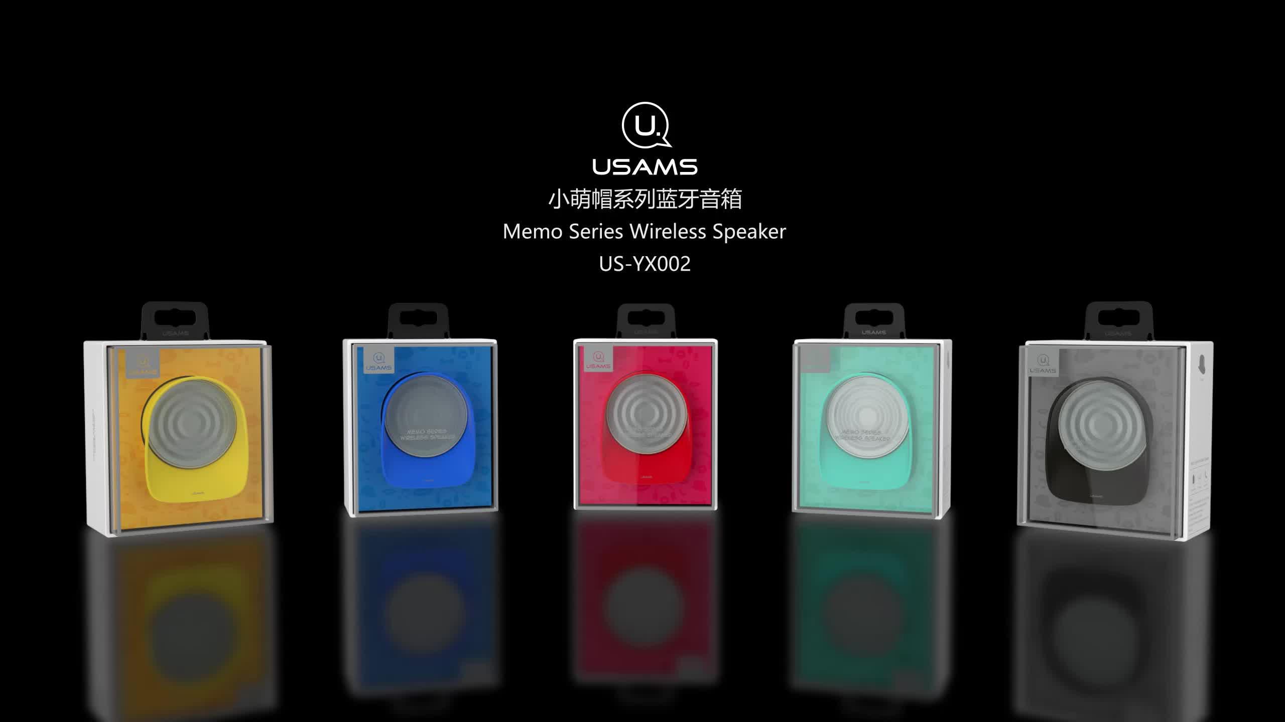 USAMS US-YX002 orange and white rohs Memo colorful fashion design mini sound box wireless cute music portable speaker