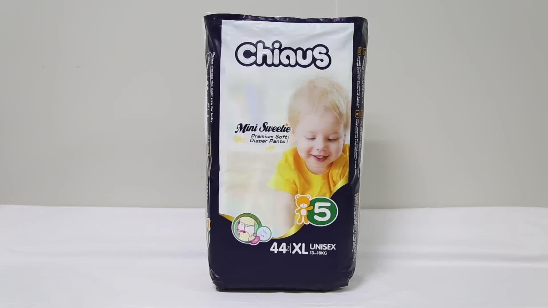 Chiaus गर्म बिक्री डायपर 360 लोचदार कमर बच्चे डायपर पैंट