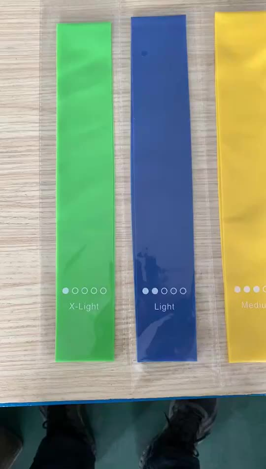 2021 OEM Wholesale custom Logo TPE Non Latex Yoga Gym Exercise Booty Hip Fabric Fitness Accessories Resistance Bands