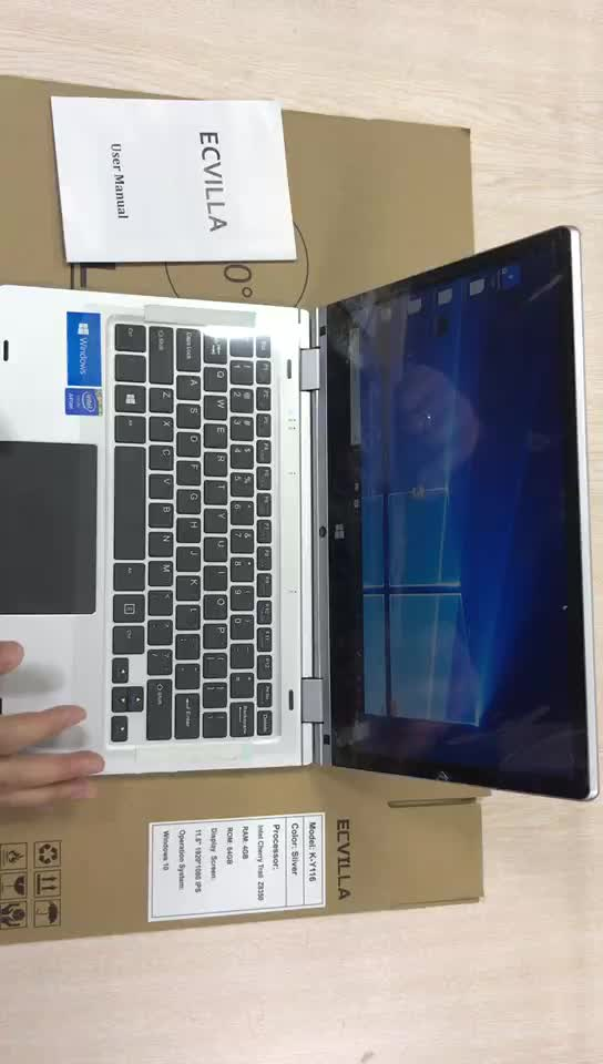 11.6 inch yoga laptop Roterende 360 Graden touch screen yoga notebook