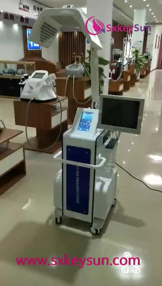 Satış en iyi ürün 11 in1 vakum bipolar rf oksijen yüz jet soyucu hidro mikrodermabrazyon makinesi biyo pdt fonksiyonu