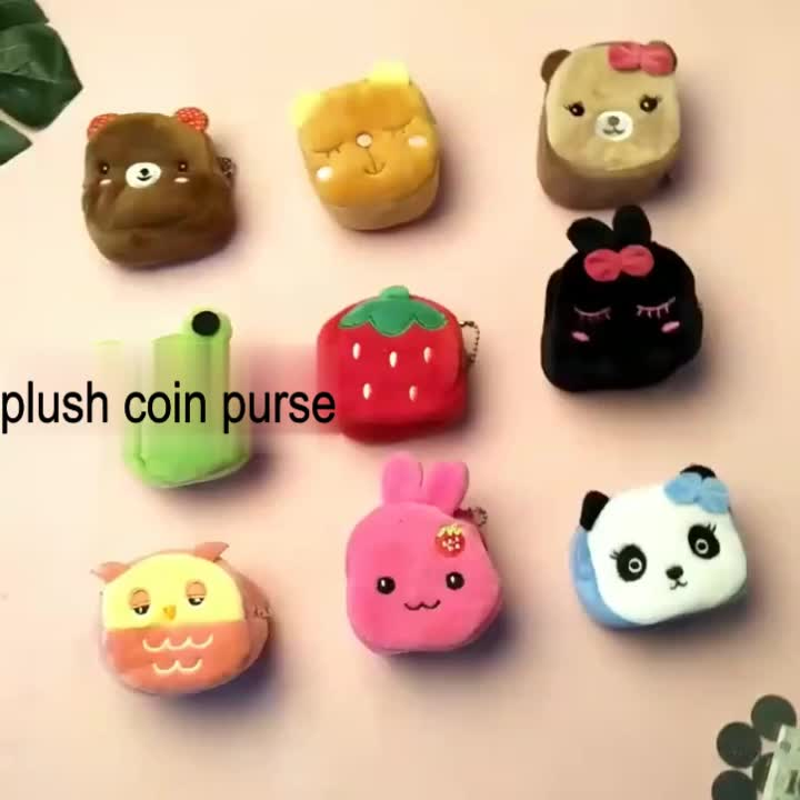 Fast delivery Variety of children's cartoon  with Plush small wallet coin purses