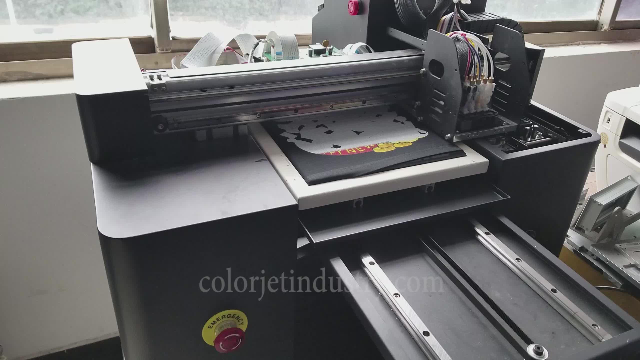 A3 ดิจิตอล dtg เครื่องพิมพ์สำหรับเสื้อยืดผ้าฝ้ายเครื่องพิมพ์ราคา