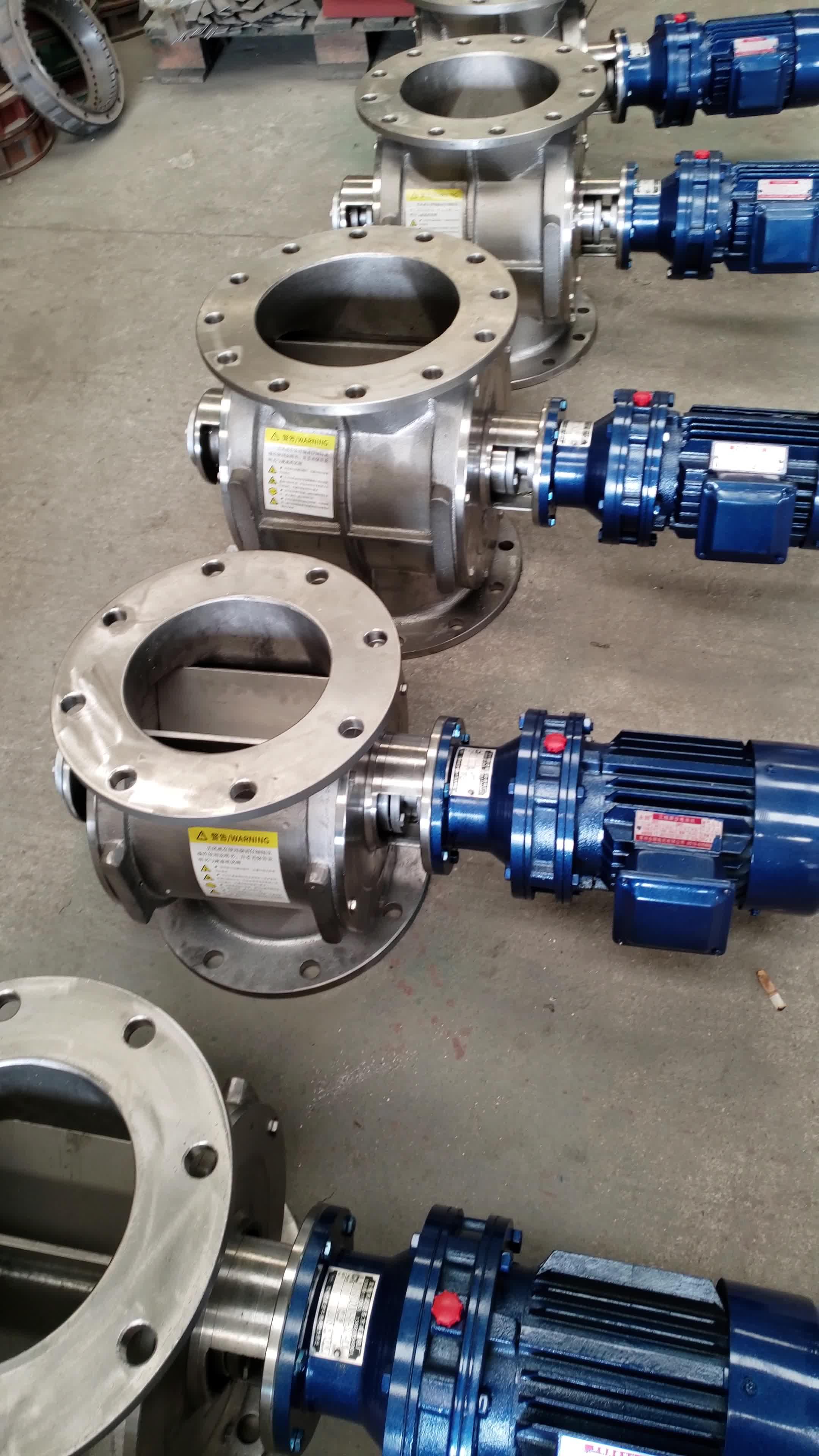 Fuente de la fábrica de acero al carbono polvo recoger rotary aire descarga de válvula