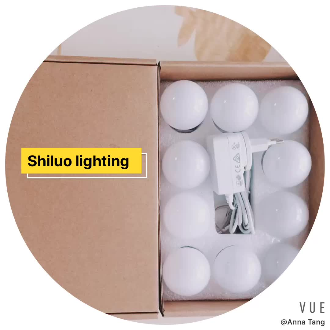 Vanity Mirror Light LED,10 LED 1W Bulbs Touch Dimmer Memory Function Makeup Mirror Lights for Makeup Room Dressing Room Bedroom