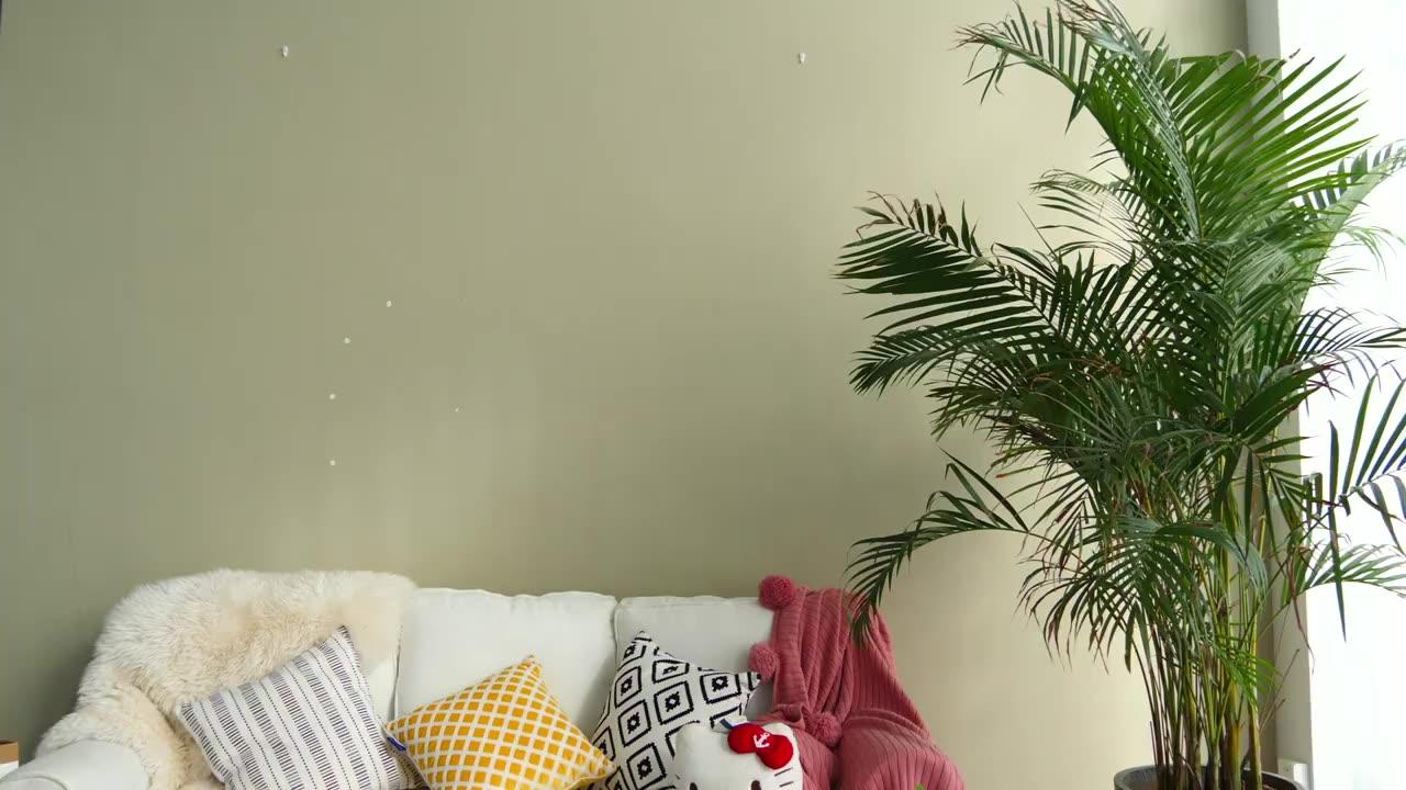 Cactus tela de poliéster impermeable plantas tropicales Pantalla de baño decoración, cortina de ducha