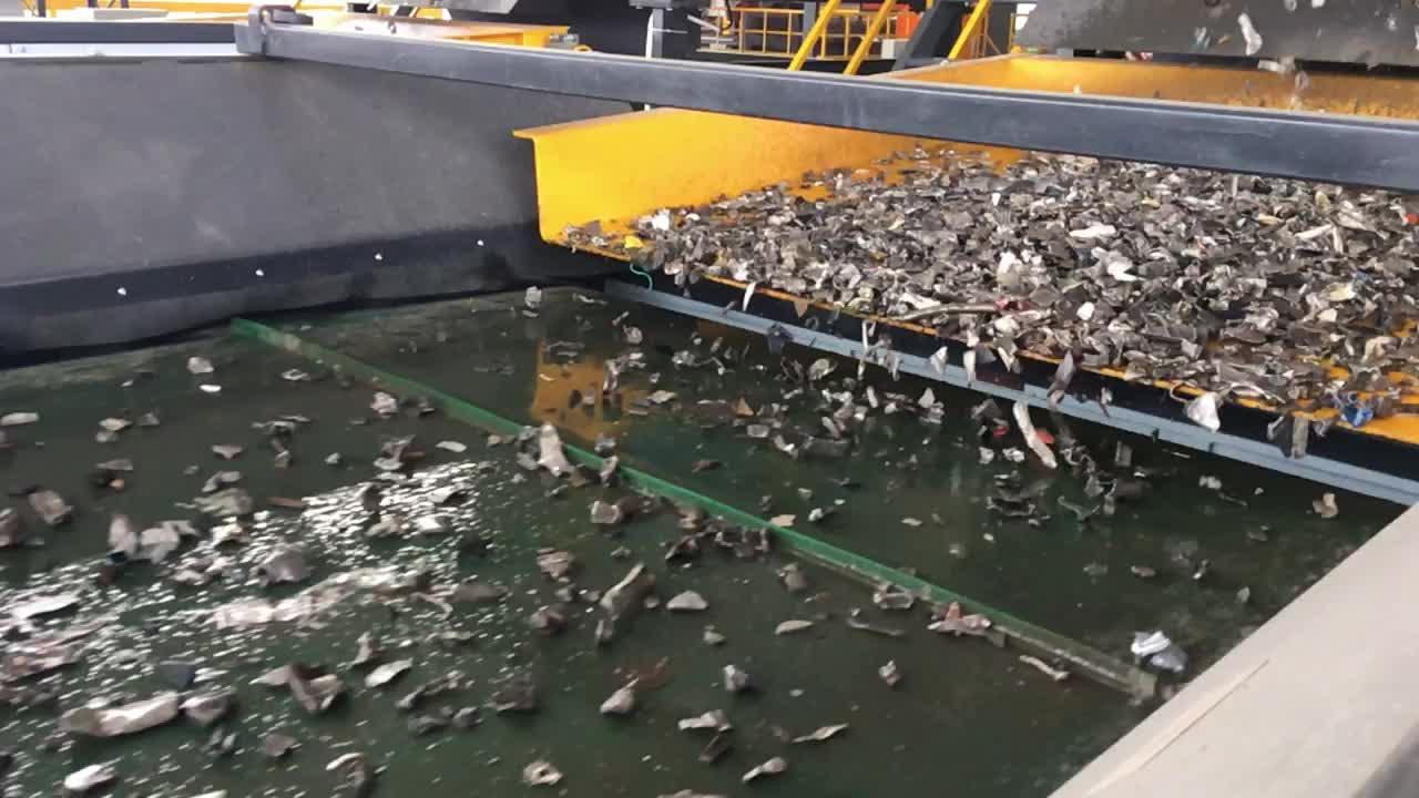 Burgaç akımlı ayırıcı için kullanılan demir dışı metaller rendelenmiş alüminyum hurda