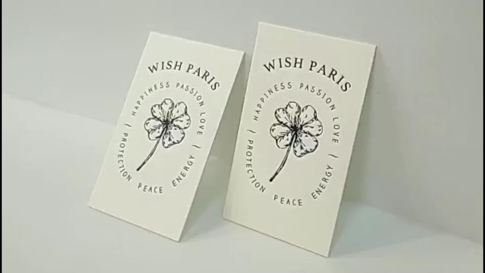 eco friendly premium paper custom design services debossed paperboard  Matte Letterpress business card printing