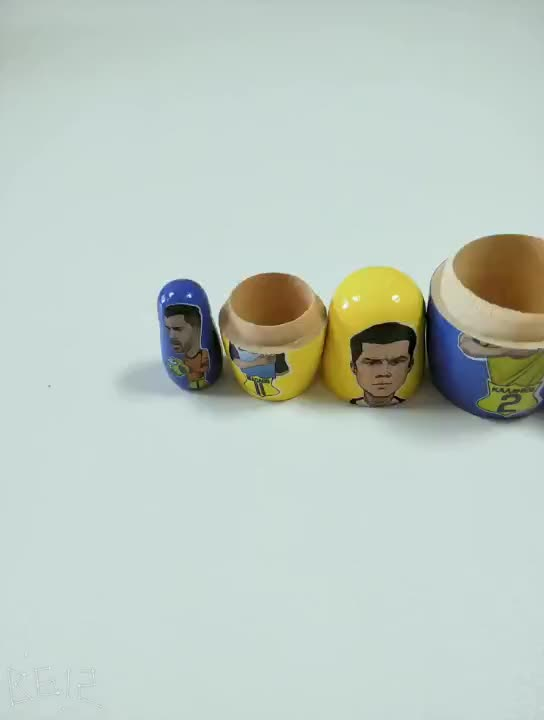 FQ brand matryoshka stacking customize DIY craft japanese wooden nesting doll
