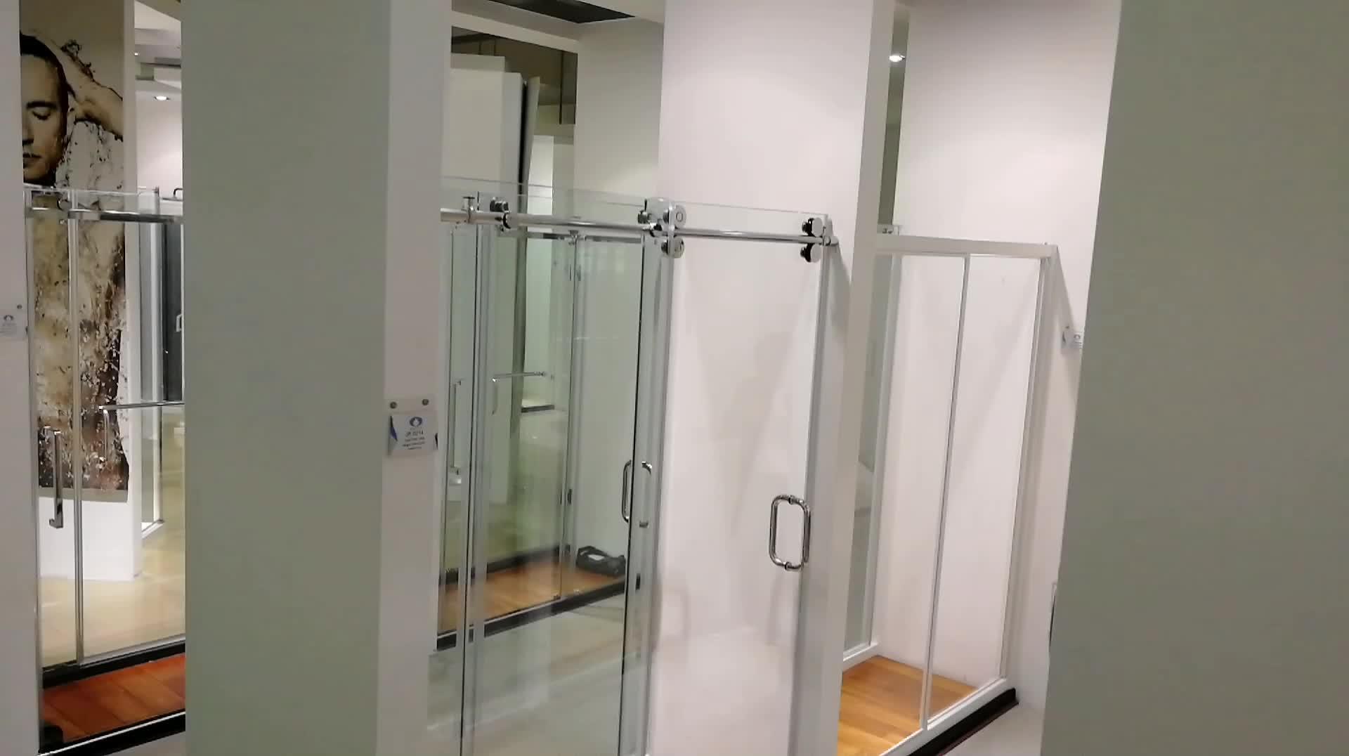 ผลิตในประเทศจีนการออกแบบห้องน้ำห้องอาบน้ำฝักบัวไม่มีประตูกระจก