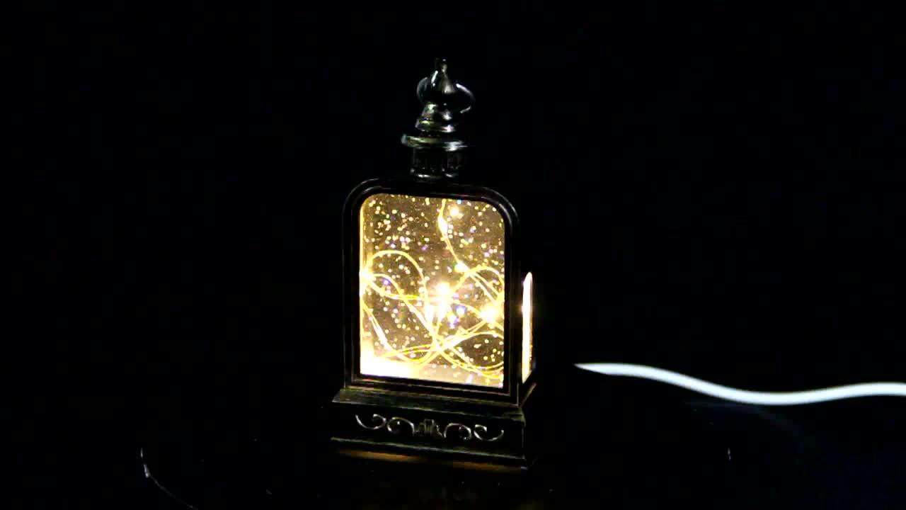 Peças de decoração para casa moderna brightes lanterna com vidro diodo emissor de luz plana