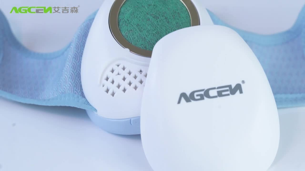 Agcen OEM 680mAh USB Chargeable Quiet Personal Air Purifier Mouth wearable air purifier