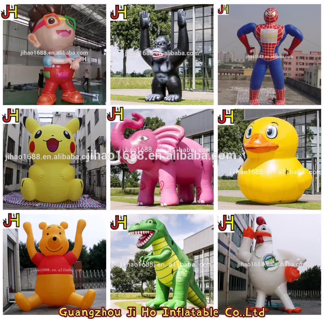 GIANT Inflatable เป็ดยางชุดโปรโมชั่น Duck Inflatable เป็ดสีเหลืองสำหรับสระว่ายน้ำลอย